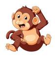 bamonkey with good posing vector image vector image