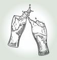 beer splash1 vector image