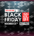black friday sale design template vector image vector image