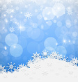 Blue Abstract Blurred Bokeh Winter Background with vector image