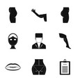 body correction icon set simple style vector image vector image