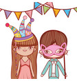 booth props party cartoon vector image vector image