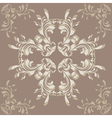 Brown background with flower ornament vector image vector image