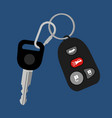 car key with auto access padlock vector image vector image