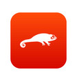chameleon icon digital red vector image vector image