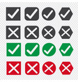 check box icon set vector image