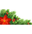 christmas poinsettia flower realistic vector image vector image