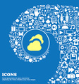 Cloud sign symbol Nice set of beautiful icons vector image