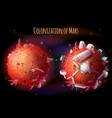 colonization mars concept vector image vector image