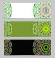 colorful geometrical horizontal flower mandala vector image vector image