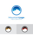 colorful mountain logo abstract vintage flat vector image