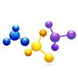 coloured molecule background vector image