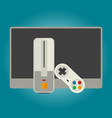 computer games console and tv vector image