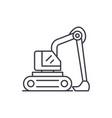 construction excavator line icon concept vector image vector image