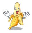 crazy tasty fresh banana mascot cartoon style vector image vector image
