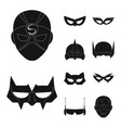 design of hero and mask sign collection of vector image vector image