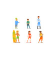 different people young and adult men and women vector image vector image