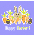 Easter colorful purple card template vector image vector image