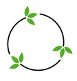 Eco friendly logo concept vector image vector image