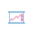 elections line chart outline colored icon can be vector image vector image