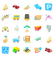fast driving icons set isometric style vector image vector image