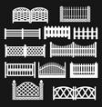 fence picket icon set vector image
