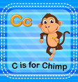 flashcard letter c is for chimp vector image vector image
