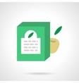 Fruit milk formula flat color design icon vector image vector image