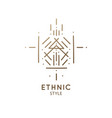 geometric sacred abstract emblem tattoo vector image vector image