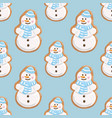 ginger cookies seamless pattern christmas vector image