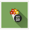 Happy Mothers Day Flat design greeting card vector image
