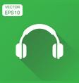 headphone icon business concept earphone headset vector image