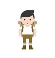 hiking concept cute hiker character with vector image vector image