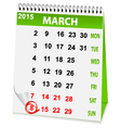 holiday calendar in 8 March vector image vector image