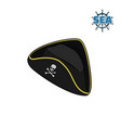 icon of pirate hat in isometric style vector image vector image