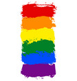 lgbt rainbow flag painted with brush strokes vector image