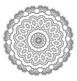 Mandala Hand drawn ethnic decorative elements vector image vector image