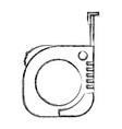 measure tape icon monochrome blurred silhouette vector image vector image