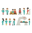 Medical Staff Flat Isolated On White Background vector image vector image