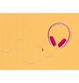 modern style headphones on yellow background vector image