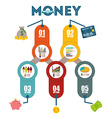 Money infographic design vector image