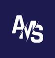 monogram letters initial logo design ams