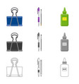 office and supply symbol vector image vector image