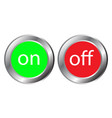 on and off button on white background vector image vector image
