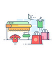 online shopping flat vector image vector image