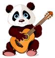 Panda guitarist vector image