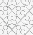 Perforated squares and circles vector image vector image