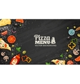 Pizza Menu Chalkboard Background vector image