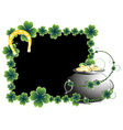 Pot of gold and horseshoe vector image vector image
