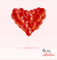 red valentines day greeting card heart balloon vector image vector image